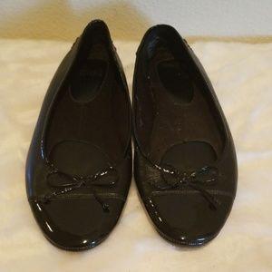 Mootsies Tootsies Black Flats Patent Size 10